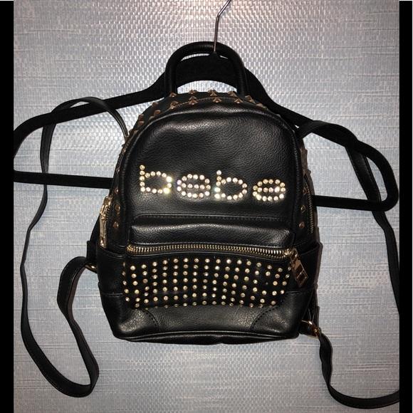 f6474df8f3a3 bebe Handbags - Bebe - Mini backpack   purse - black   gold studs